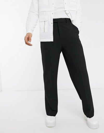 Pantalone Nero uomo Pantaloni eleganti con fondo ampio neri - ASOS DESIGN - Nero