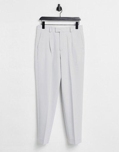 Grigio uomo Pantaloni eleganti oversize affusolati grigi - ASOS DESIGN - Grigio