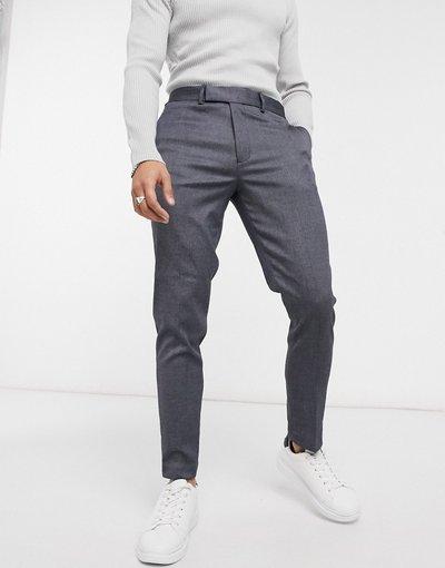 Blu navy uomo Pantaloni eleganti skinny alla caviglia blu navy - ASOS DESIGN