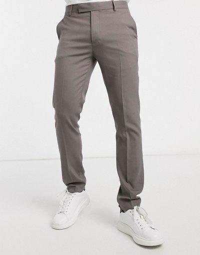 Pantalone Grigio uomo Pantaloni eleganti skinny color grigio fungo - ASOS DESIGN
