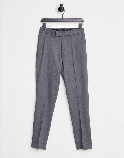 Grigio uomo Pantaloni eleganti skinny in twill - ASOS DESIGN - Grigio