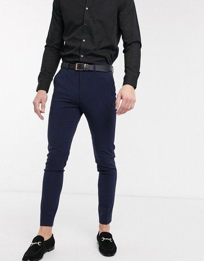 Navy uomo Pantaloni super skinny eleganti blu navy - ASOS DESIGN