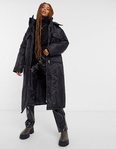Nero donna Parka in nylon nero - ASOS DESIGN