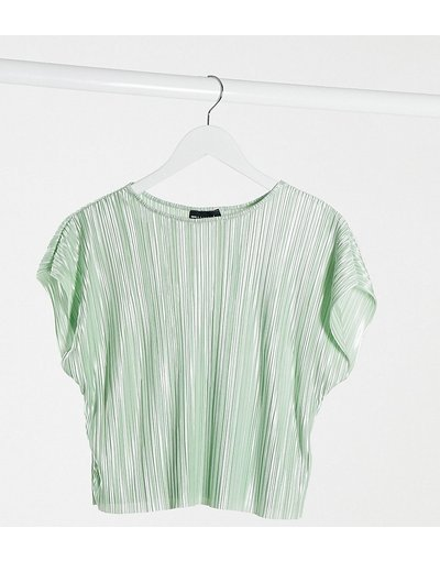 T-shirt Verde donna shirt plissé verde salvia - ASOS DESIGN Petite - T