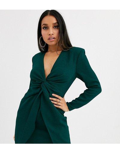 Verde donna Vestito corto con intreccio sul davanti - ASOS DESIGN Petite - Verde