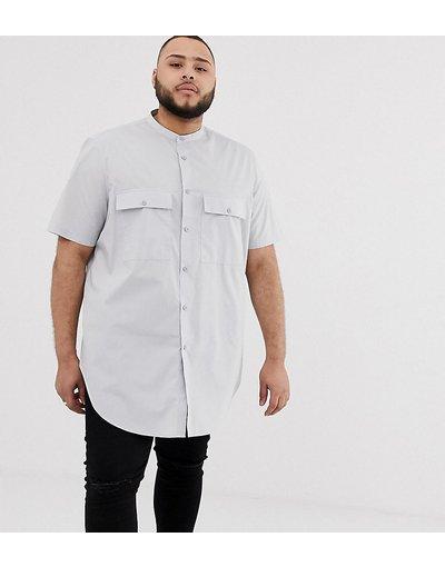 Grigio uomo Camicia grigia extra lunga vestibilità classica - ASOS DESIGN Plus - Grigio