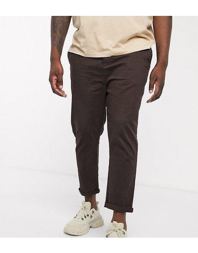 Pantalone Marrone uomo Chino skinny alla caviglia marrone - ASOS DESIGN Plus