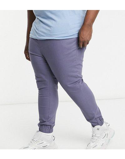 Pantalone Grigio uomo Chino stile joggers affusolati grigi - ASOS DESIGN Plus - Grigio