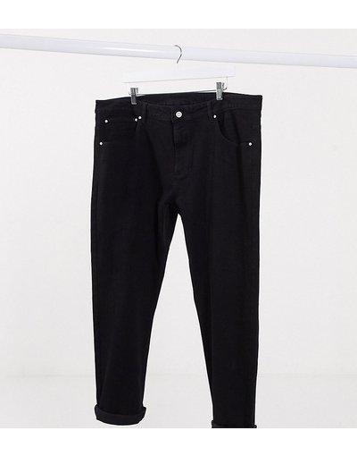 Jeans Nero uomo Jeans affusolati neri - ASOS DESIGN Plus - Nero