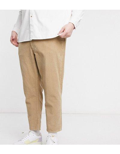 Jeans Cuoio uomo Jeans classici rigidi in velluto color pietra - ASOS DESIGN Plus - Cuoio