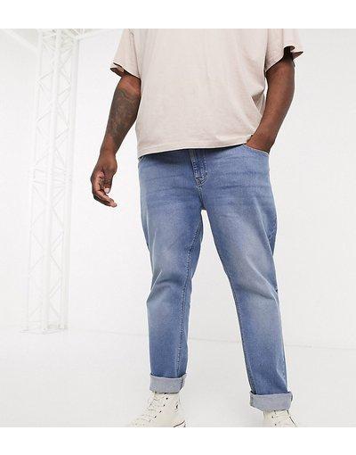 Jeans Blu uomo Jeans slim blu medio slavato - ASOS DESIGN Plus