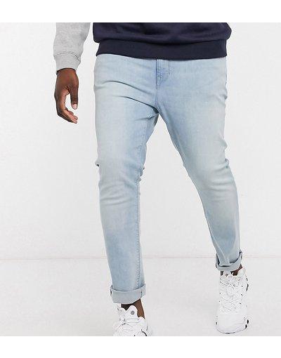 Jeans Blu uomo Jeans super skinny blu lavaggio chiaro - ASOS DESIGN Plus