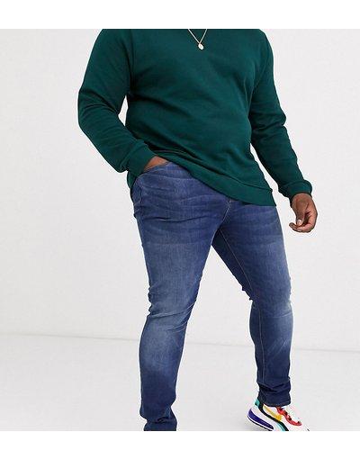 Jeans Blu uomo Jeans super skinny lavaggio scuro - ASOS DESIGN Plus - Blu