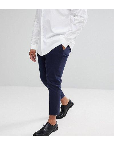 Pantalone Navy uomo Pantaloni cropped eleganti skinny blu navy - ASOS DESIGN Plus