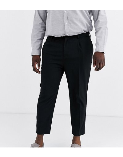 Nero uomo Pantaloni eleganti neri affusolati - ASOS DESIGN Plus - Nero