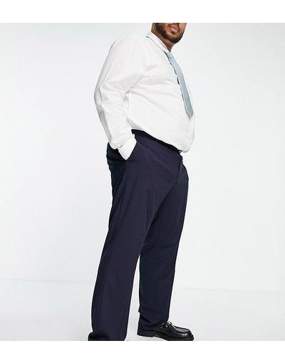 Navy uomo Pantaloni eleganti slim blu navy - ASOS DESIGN Plus