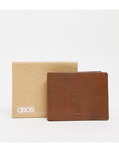 Portafoglio Cuoio uomo Portafoglio in pelle color cuoio vintage con bassorilievo - ASOS DESIGN