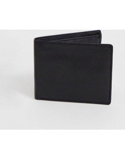Portafoglio Nero uomo Portafoglio in pelle nero con portamonete interno - ASOS DESIGN