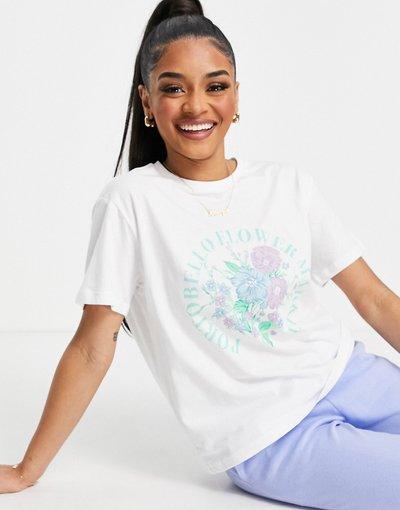 Pigiami Verde donna shirt del pigiama mix and match bianca - Portobello Flower Market - ASOS DESIGN - Verde - T
