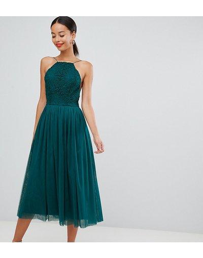 Verde donna Vestito midi da cerimonia - ASOS DESIGN Premium Tall - Verde