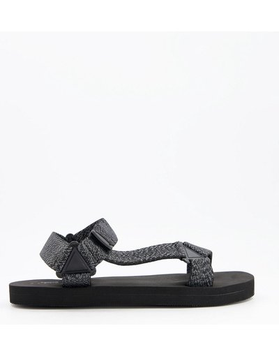 Sandali Nero uomo Sandali tecnici con fascette zigrinate - ASOS DESIGN - Nero