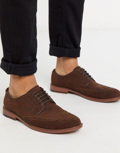 Scarpa elegante Marrone uomo Scarpe brogue in camoscio sintetico marrone - ASOS DESIGN