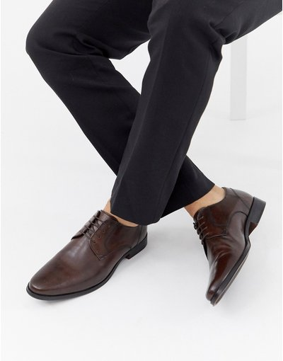 Scarpa elegante Marrone uomo Scarpe derby in pelle marrone - ASOS DESIGN