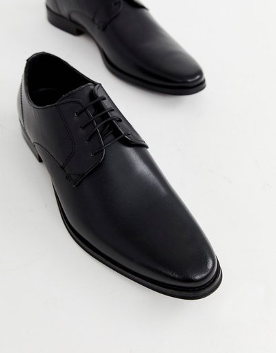 Scarpa elegante Nero uomo Scarpe derby in pelle nera - ASOS DESIGN - Nero