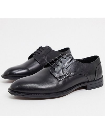 Scarpa elegante Nero uomo Scarpe derby pianta larga in pelle nere - ASOS DESIGN - Nero