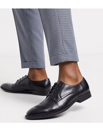 Scarpa elegante Nero uomo Scarpe derby pianta larga in pelle sintetica vegan - friendly nera - ASOS DESIGN - Nero