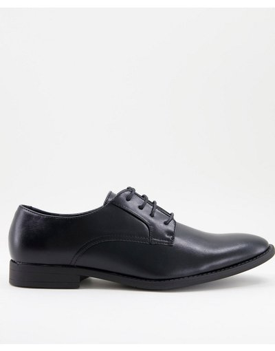 Scarpa elegante Nero uomo friendly in pelle sintetica nera - Scarpe derby vegan - ASOS DESIGN - Nero