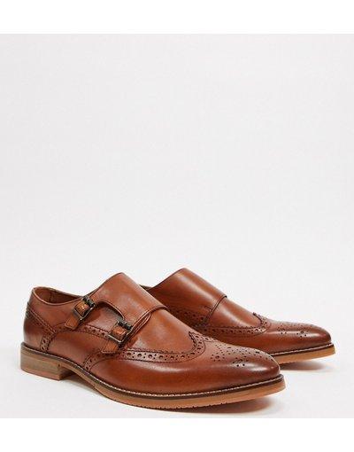 Scarpa elegante Cuoio uomo Scarpe in pelle color cuoio con fibbie e suola naturale - ASOS DESIGN