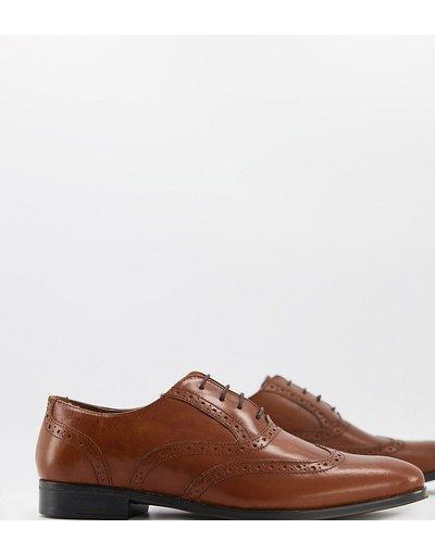 Scarpa elegante Cuoio uomo Scarpe Oxford a pianta larga in pelle color cuoio - ASOS DESIGN