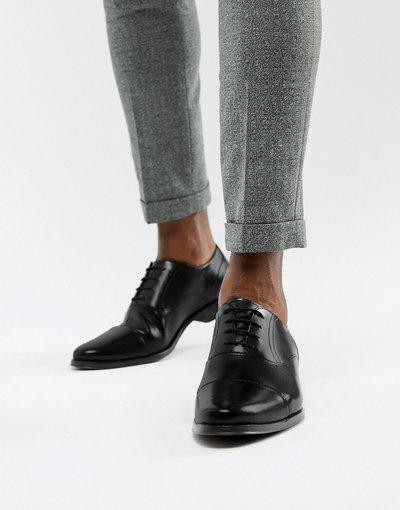 Scarpa elegante Nero uomo Scarpe Oxford a punta in pelle nera - ASOS DESIGN - Nero