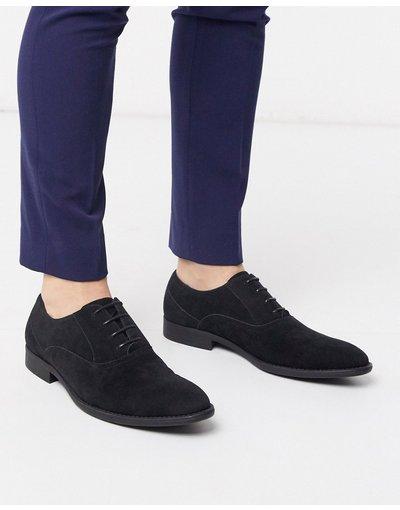 Scarpa elegante Nero uomo Scarpe Oxford in camoscio sintetico nero - ASOS DESIGN