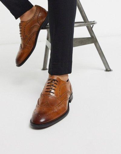 Scarpa elegante Cuoio uomo Scarpe Oxford stringate in pelle color cuoio - ASOS DESIGN