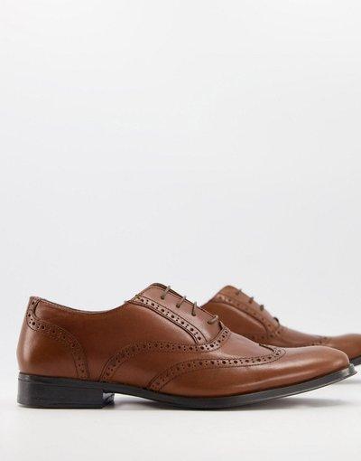 Sneackers Cuoio uomo Scarpe Oxford stringate in pelle color cuoio - ASOS DESIGN
