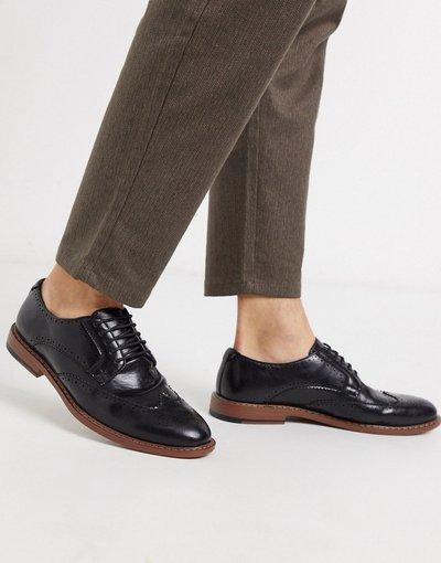 Scarpa elegante Nero uomo Scarpe stringate in ecopelle nere - ASOS DESIGN - Nero moda abbigliamento