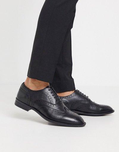 Sneackers Nero uomo Scarpe stringate pianta larga Oxford in pelle nere - ASOS DESIGN - Nero