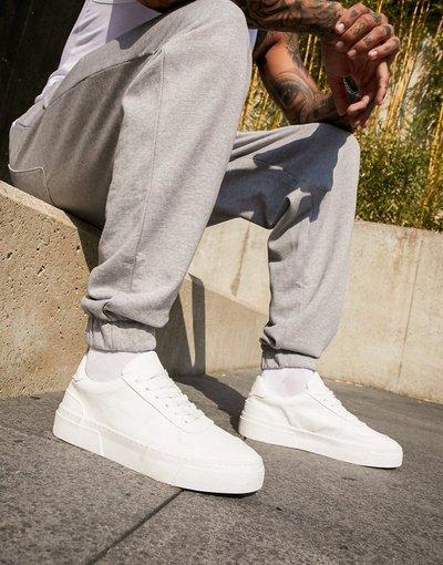 Stivali Bianco uomo Sneakers bianche con suola spessa - ASOS DESIGN - Bianco