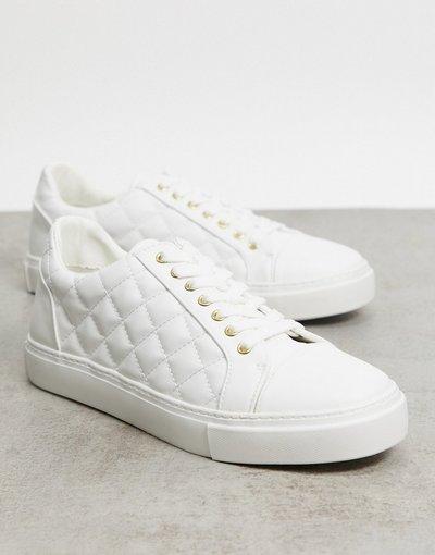 Sneackers Bianco uomo Sneakers bianche in materiale trapuntato - ASOS DESIGN - Bianco