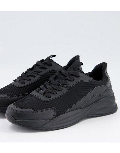 Stivali Nero uomo Sneakers nere con pannelli multipli - ASOS DESIGN - Nero