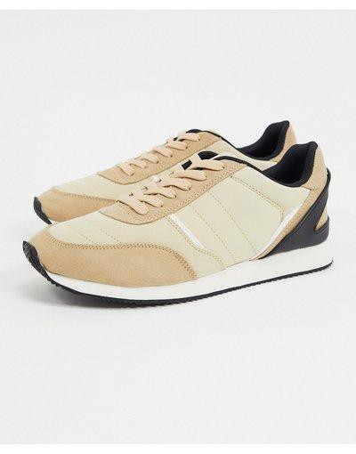 Stivali Bianco uomo Sneakers rétro cuoio - ASOS DESIGN - Bianco