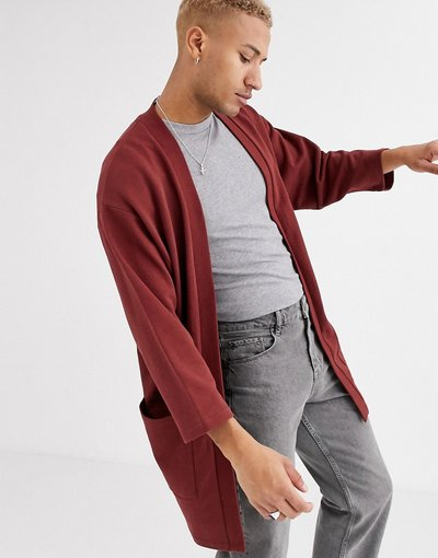 Novita Marrone uomo Spolverino kimono in jersey marrone - ASOS DESIGN