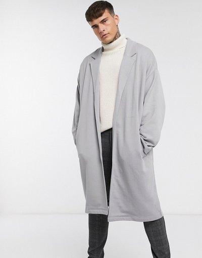 Grigio uomo Spolverino super oversize in jersey grigio - ASOS DESIGN