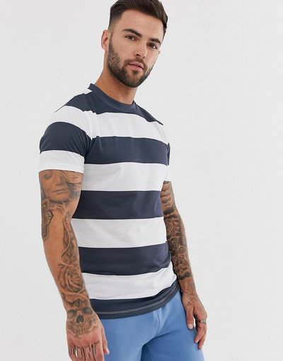 T-shirt Bianco uomo shirt a righe - ASOS DESIGN - Bianco - T