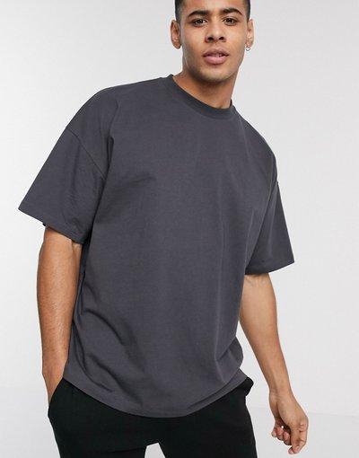 T-shirt Nero uomo shirt girocollo oversize nero slavato - ASOS DESIGN - T