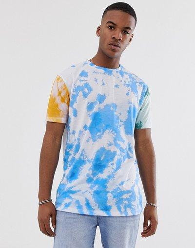 T-shirt Multicolore uomo shirt lunga e comoda tie - ASOS DESIGN - Multicolore - dye - T