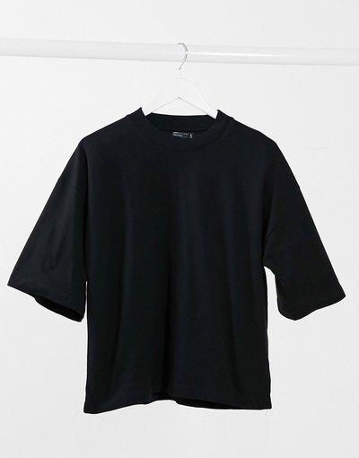 T-shirt Nero donna shirt nera super oversize - ASOS DESIGN - Nero - T