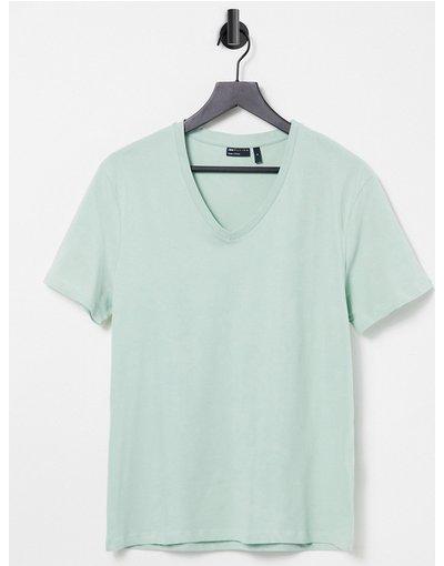 T-shirt Verde uomo shirt verde con scollo a V - ASOS DESIGN - T
